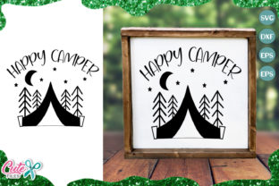 Download Free Happy Camper Summer Graphic By Cute Files Creative Fabrica for Cricut Explore, Silhouette and other cutting machines.