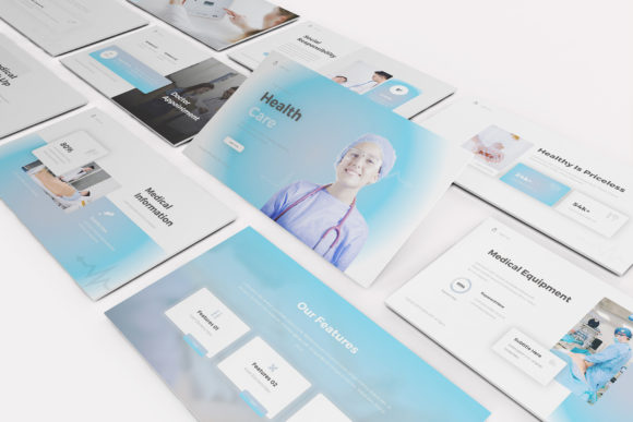 Download Free Health Care Powerpoint Template Graphic By Formatikastd for Cricut Explore, Silhouette and other cutting machines.