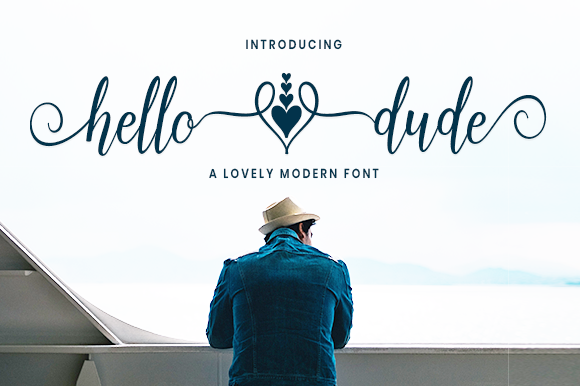 Print on Demand: Hello Dude Script & Handwritten Font By axara creative