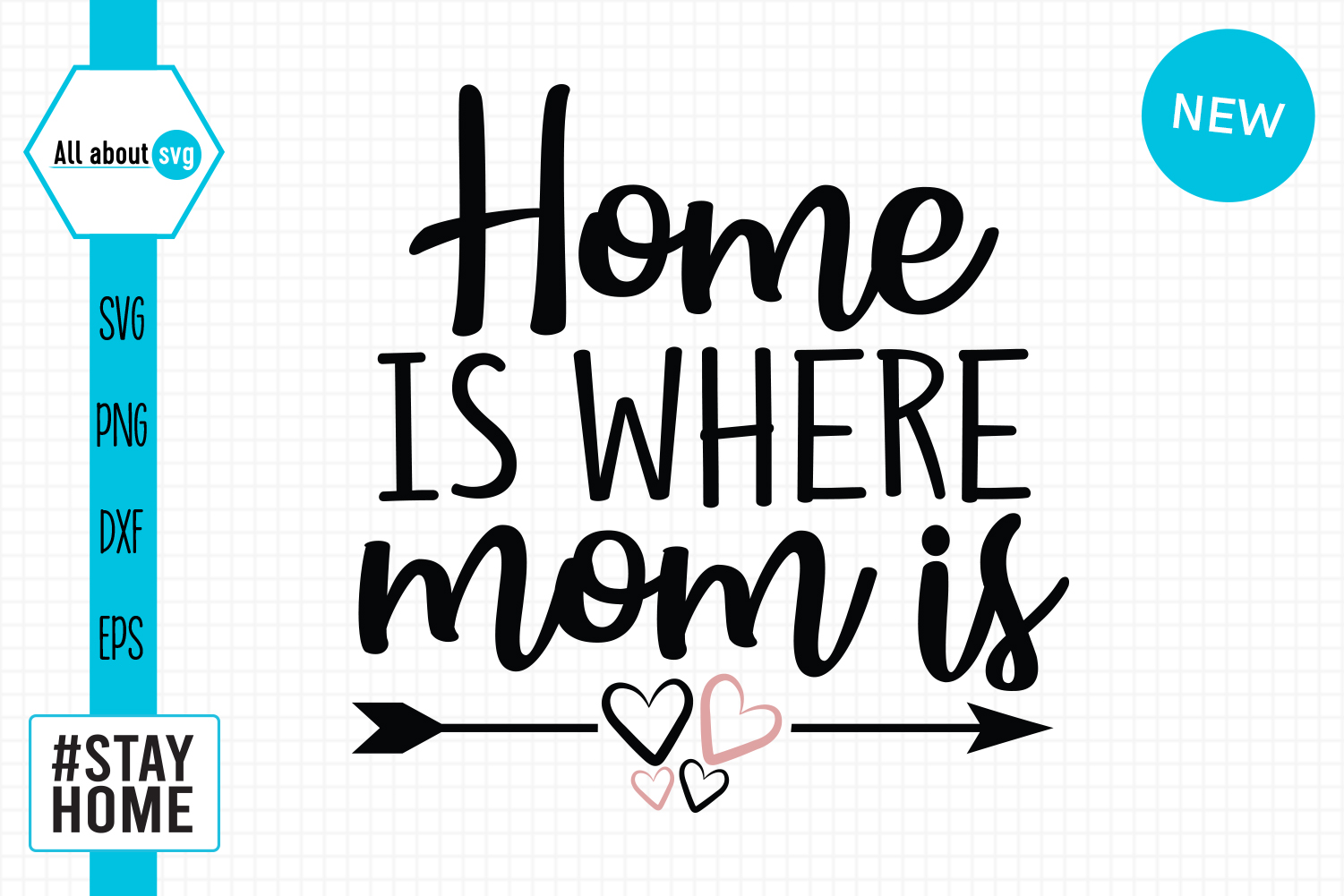 Download Free Home Is Where Mom Is Svg Graphic By All About Svg Creative Fabrica SVG Cut Files