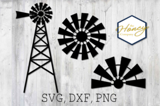 Download Free Home Farm Windmill Sign Cut Graphic By The Honey Company for Cricut Explore, Silhouette and other cutting machines.