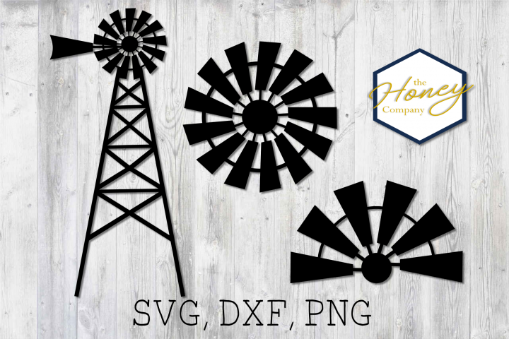 Download Free Home Farm Windmill Sign Cut Graphic By The Honey Company SVG Cut Files