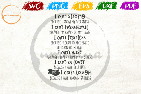 Download Free I Am Strong Because I Know My Weekness Graphic By Uramina for Cricut Explore, Silhouette and other cutting machines.