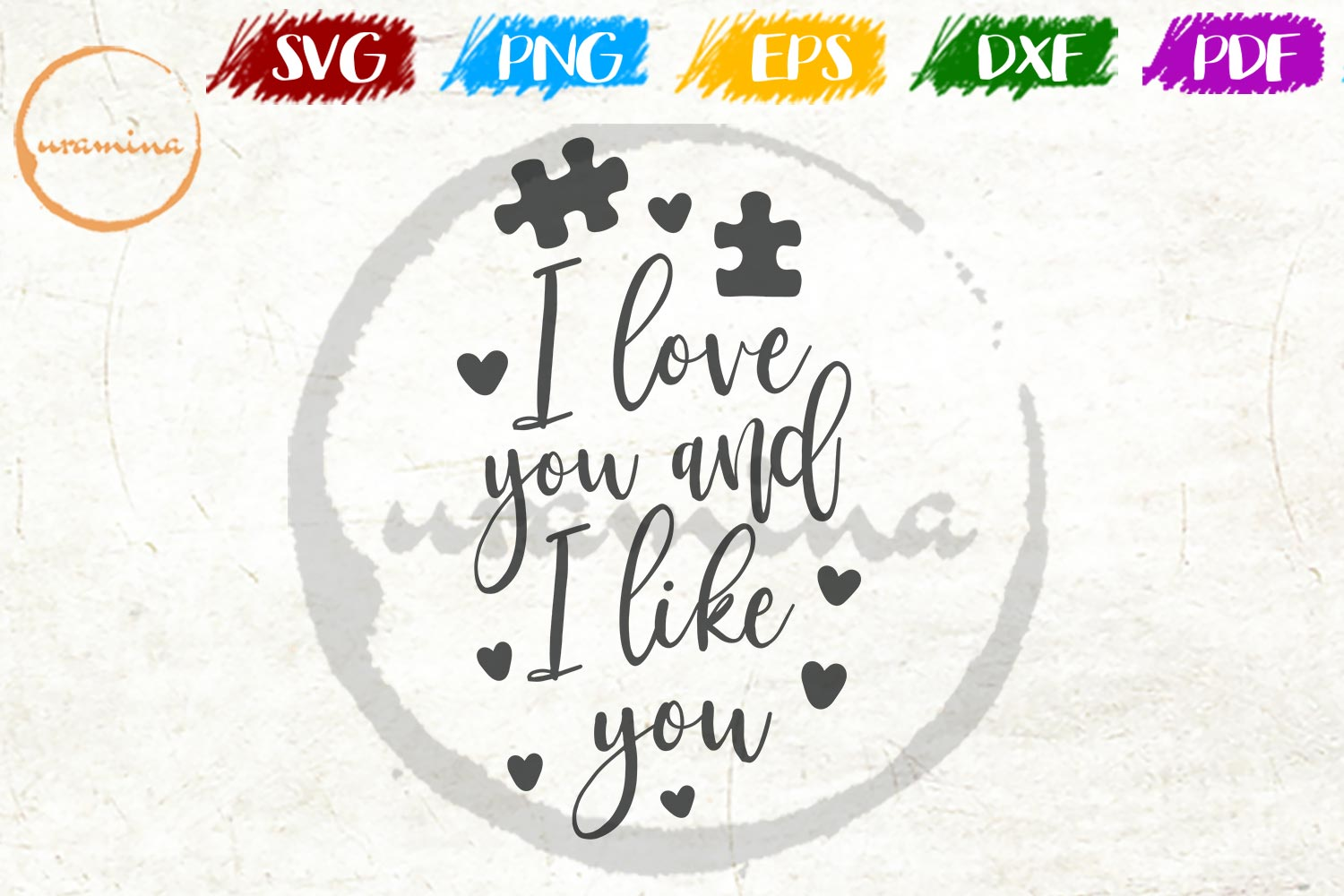 Download Free I Love You And I Like You Graphic By Uramina Creative Fabrica for Cricut Explore, Silhouette and other cutting machines.