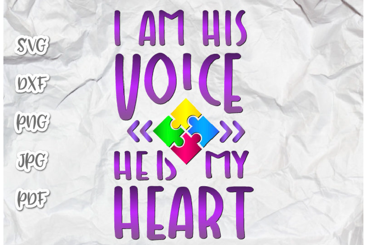 I Am His Voice He Is My Heart Autism Graphic By Digitals By Hanna Creative Fabrica