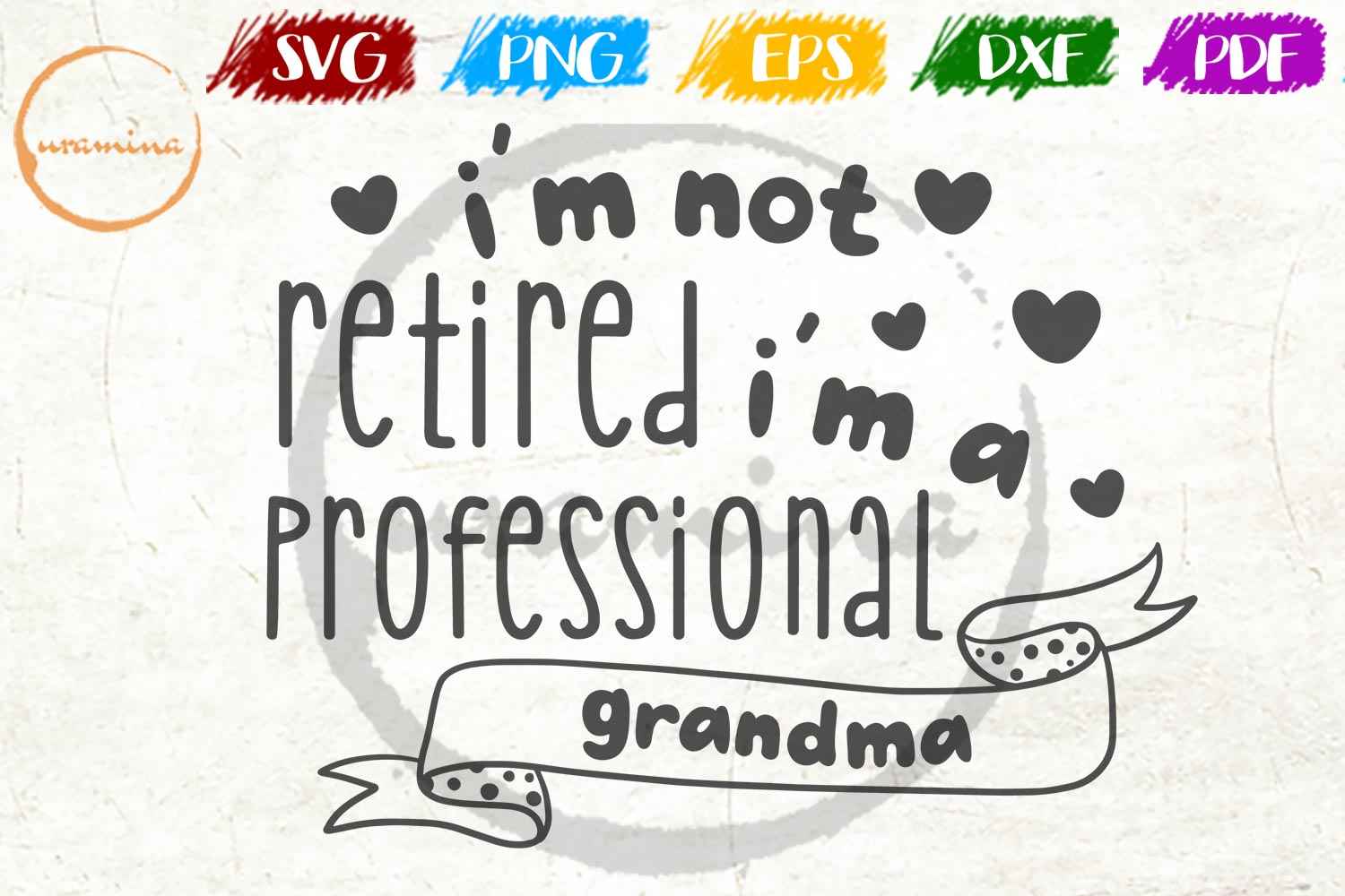 Download Free I M Not Retired I M A Professional Graphic By Uramina Creative for Cricut Explore, Silhouette and other cutting machines.