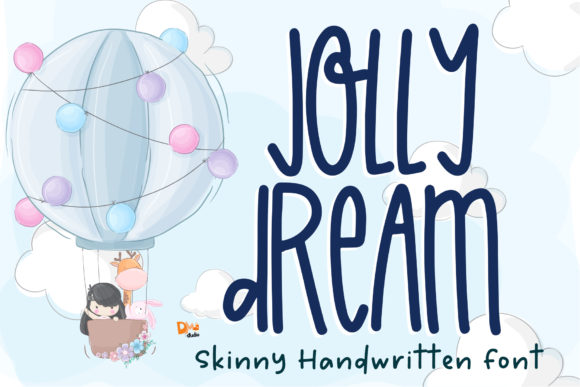 Print on Demand: Jolly Dream Script & Handwritten Font By dmletter31