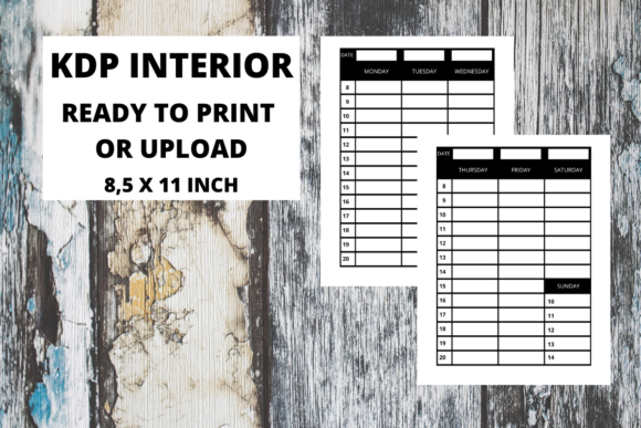 Print on Demand: KDP Interior Appointment Book Graphic KDP Interiors By Fleur de Tango - Image 2