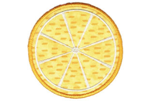 Lemon Round Coaster Food & Dining Embroidery Design By Sookie Sews