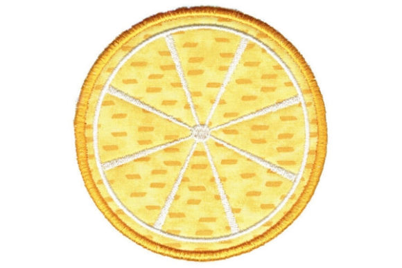 Lemon Round Coaster Food & Dining Embroidery Design By Sue O'Very Designs