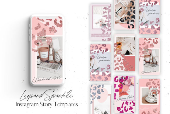 Leopard Sparkle Instagram Story Template Graphic Graphic Templates By Blush Created
