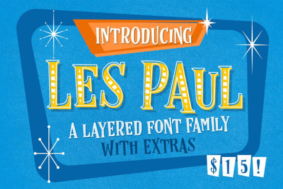 Print on Demand: Les Paul Display Font By vintagevoyageco