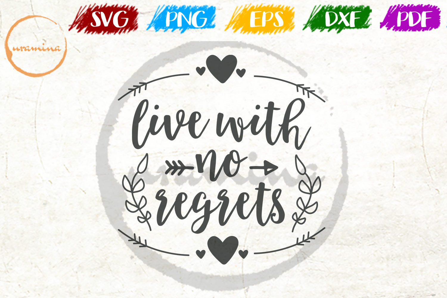 Download Free Live With No Regrets Graphic By Uramina Creative Fabrica for Cricut Explore, Silhouette and other cutting machines.