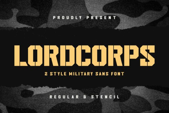 Print on Demand: Lordcorps Display Font By almarkhatype