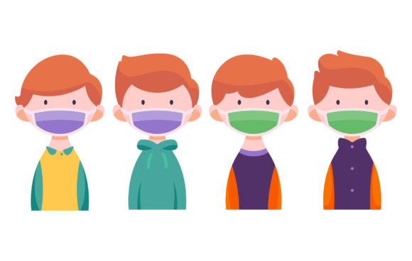 Download Free Man Wearing Medical Masker Illustration Graphic By Matfine for Cricut Explore, Silhouette and other cutting machines.