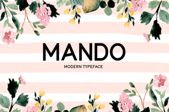 Print on Demand: Mando Display Font By Seemly Fonts