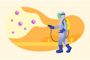 Medical Scientist Cleaning Illustration Graphic Illustrations By MatFine