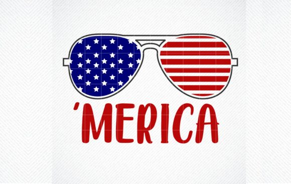 Print on Demand: Merica, 4th of July, Independence Graphic Crafts By SVG DEN