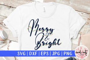 Download Free Merry Bright Graphic By Coralcutssvg Creative Fabrica for Cricut Explore, Silhouette and other cutting machines.