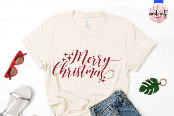 Download Free Merry Christmas Graphic By Coralcutssvg Creative Fabrica for Cricut Explore, Silhouette and other cutting machines.