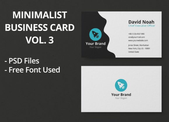 Download Free Minimalist Business Card Vol 3 Graphic By Junior Creative for Cricut Explore, Silhouette and other cutting machines.
