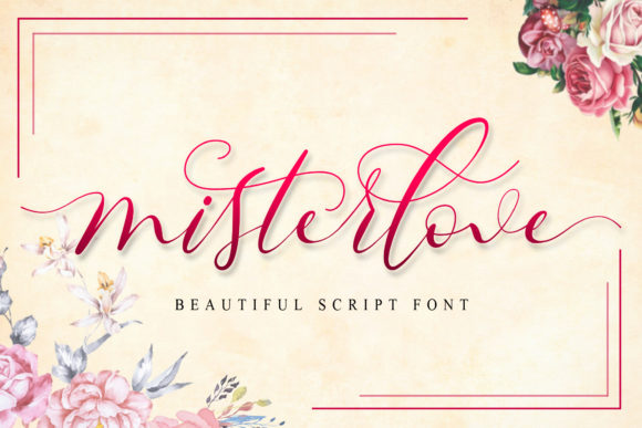 Print on Demand: Misterlove Script & Handwritten Font By Doehantz Studio