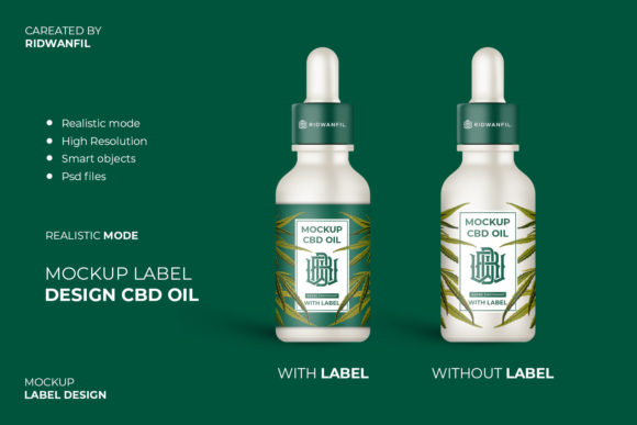 Download Free Mockup Label Design Cbd Oil Graphic By Fadilahridwan69 for Cricut Explore, Silhouette and other cutting machines.