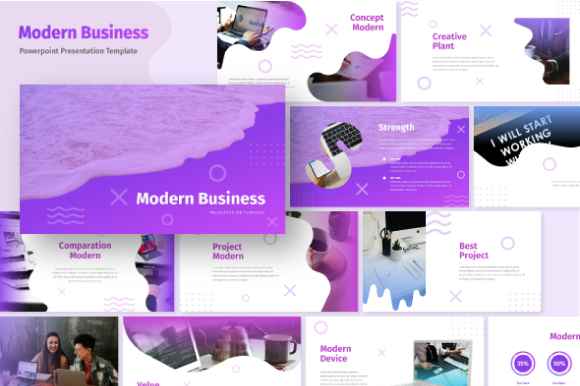 Download Free Modern Business Powerpoint Template Graphic By Inkofert for Cricut Explore, Silhouette and other cutting machines.