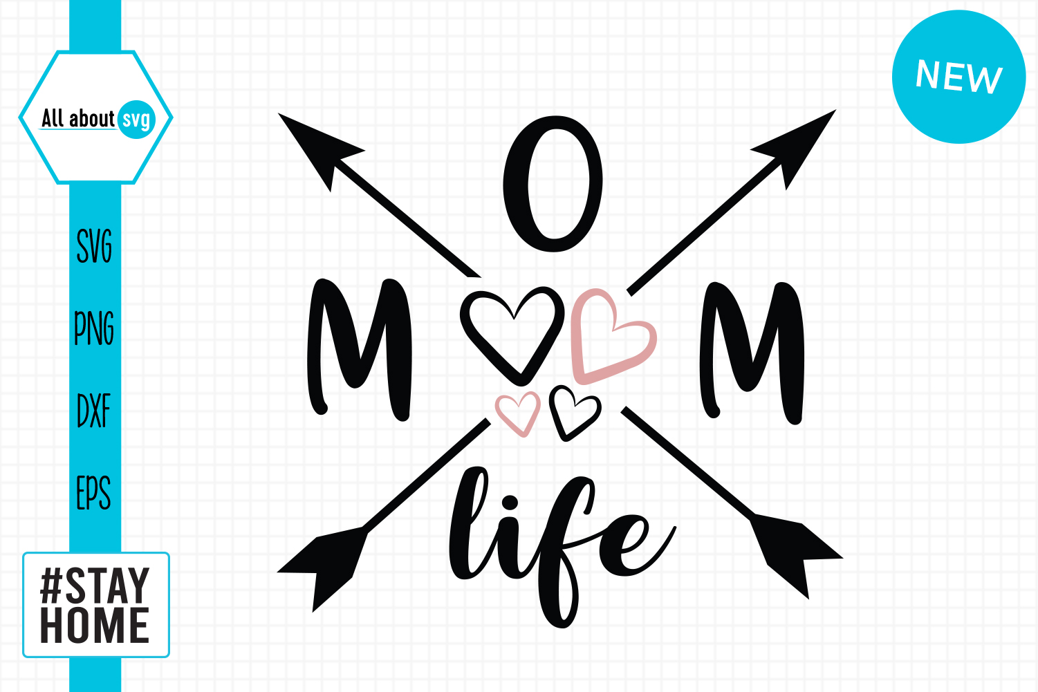 Download Free Mom Life Graphic By All About Svg Creative Fabrica for Cricut Explore, Silhouette and other cutting machines.