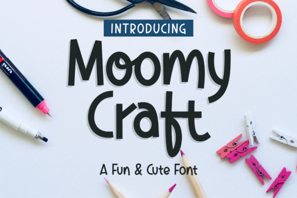 Download Free Moomycraft Font By Dumadi Creative Fabrica for Cricut Explore, Silhouette and other cutting machines.