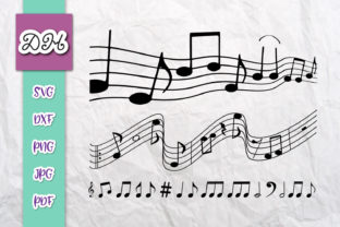 Download Free Musical Notes Music Staff Print Cut Graphic By Digitals By for Cricut Explore, Silhouette and other cutting machines.