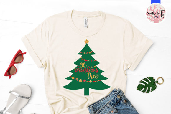 Download Free Oh Christmas Tree Graphic By Coralcutssvg Creative Fabrica for Cricut Explore, Silhouette and other cutting machines.