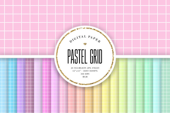 Download Free Pastel Buffalo Plaid Seamless Patterns Graphic By Sabina Leja for Cricut Explore, Silhouette and other cutting machines.