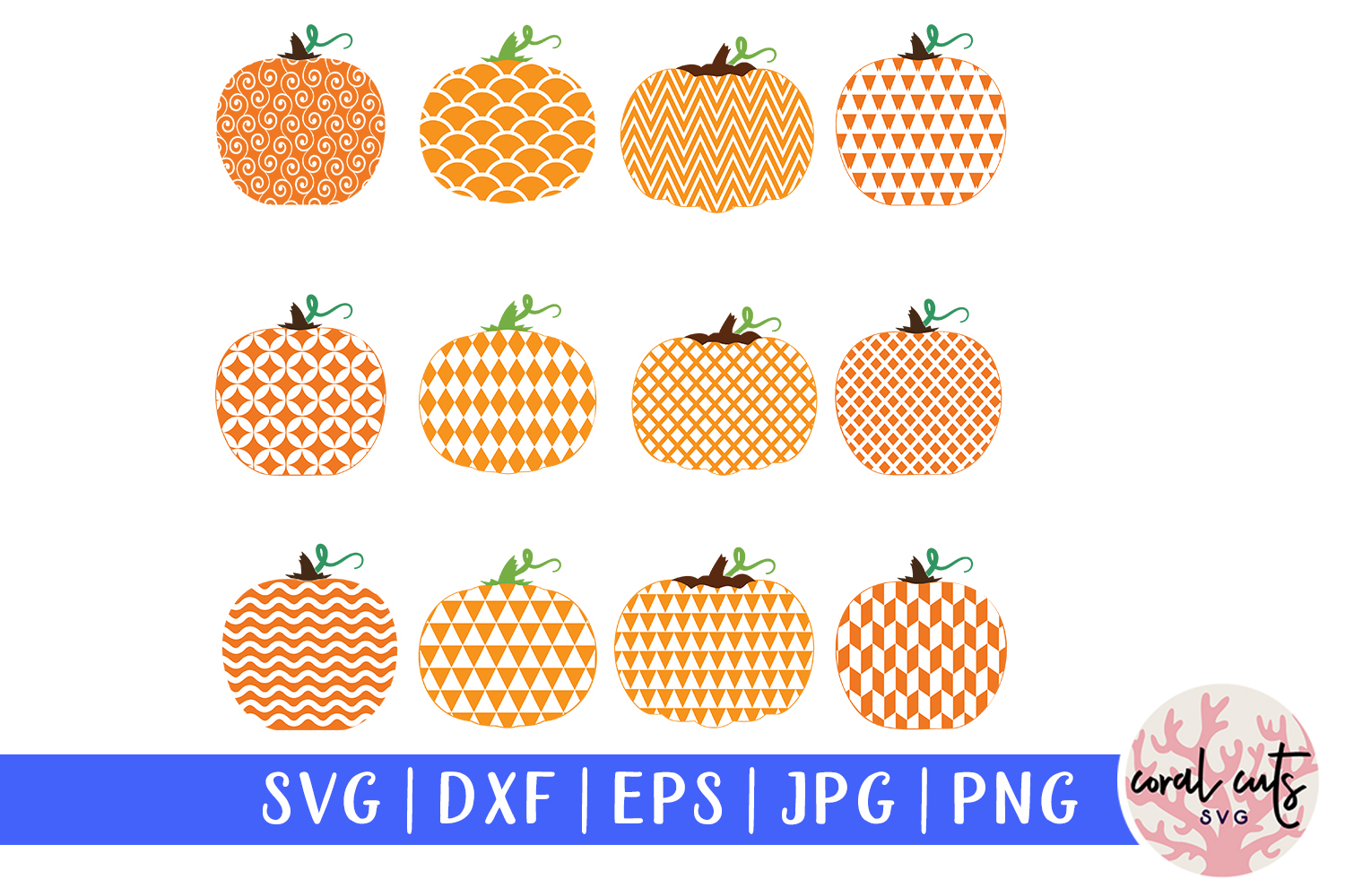 Download Free Pumpkin Monogram Frame Bundle Graphic By Coralcutssvg Creative for Cricut Explore, Silhouette and other cutting machines.