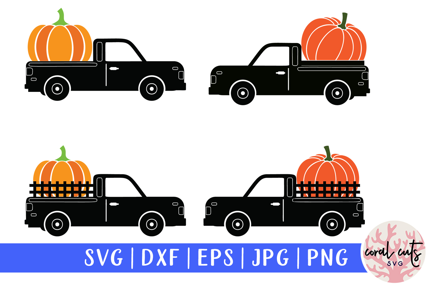 Download Free Pumpkin Truck Graphic By Coralcutssvg Creative Fabrica for Cricut Explore, Silhouette and other cutting machines.