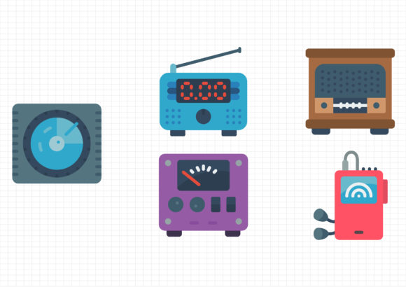Download Free Radio Graphic By Gantengagif7 Creative Fabrica for Cricut Explore, Silhouette and other cutting machines.