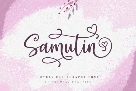 Download Free Samutin Font By Wandani Creative Creative Fabrica for Cricut Explore, Silhouette and other cutting machines.
