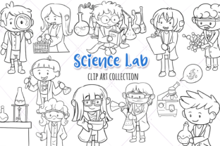 Print on Demand: Science Lab Digital Stamps Graphic Illustrations By Keepinitkawaiidesign
