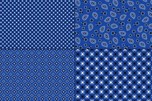 Download Free Seamless Blue Bandana Patterns Graphic By Melissa Held Designs for Cricut Explore, Silhouette and other cutting machines.