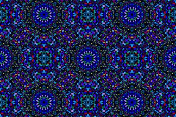 Download Free Seamless Blue Floral Mandala Pattern Graphic By Davidzydd for Cricut Explore, Silhouette and other cutting machines.