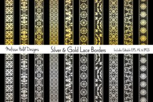 Silver & Gold Lace Border Patterns Graphic Patterns By Melissa Held Designs