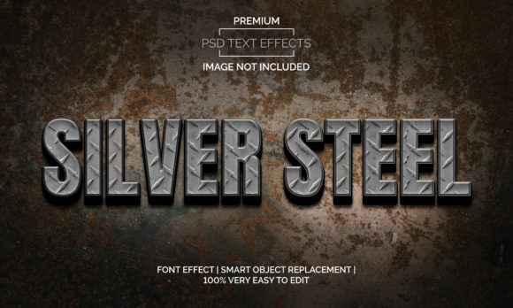 Download Free Silver Steel Text Effects Style Premium Graphic By for Cricut Explore, Silhouette and other cutting machines.