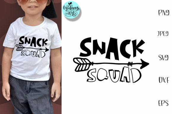 Download Free Snack Squad Funny Kids Graphic By Midmagart Creative Fabrica for Cricut Explore, Silhouette and other cutting machines.
