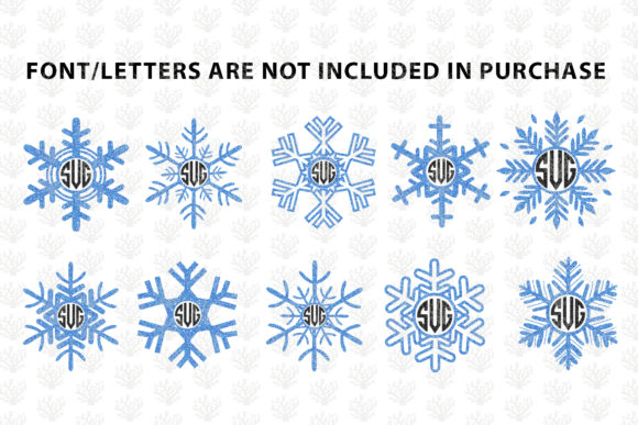 Download Free Snowfall Monogram Frame Bundle Graphic By Coralcutssvg for Cricut Explore, Silhouette and other cutting machines.