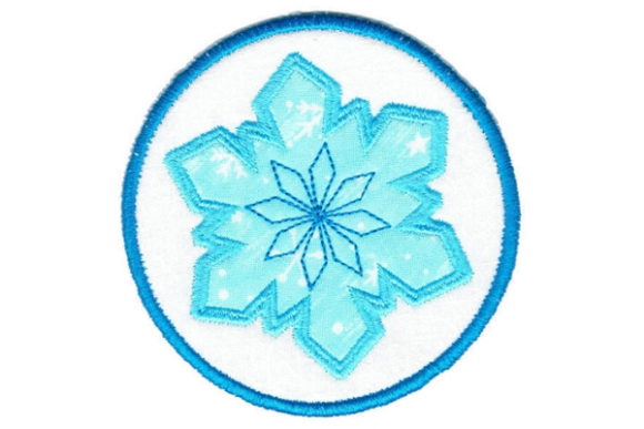 Snowflake Round Coaster Winter Embroidery Design By Sue O'Very Designs