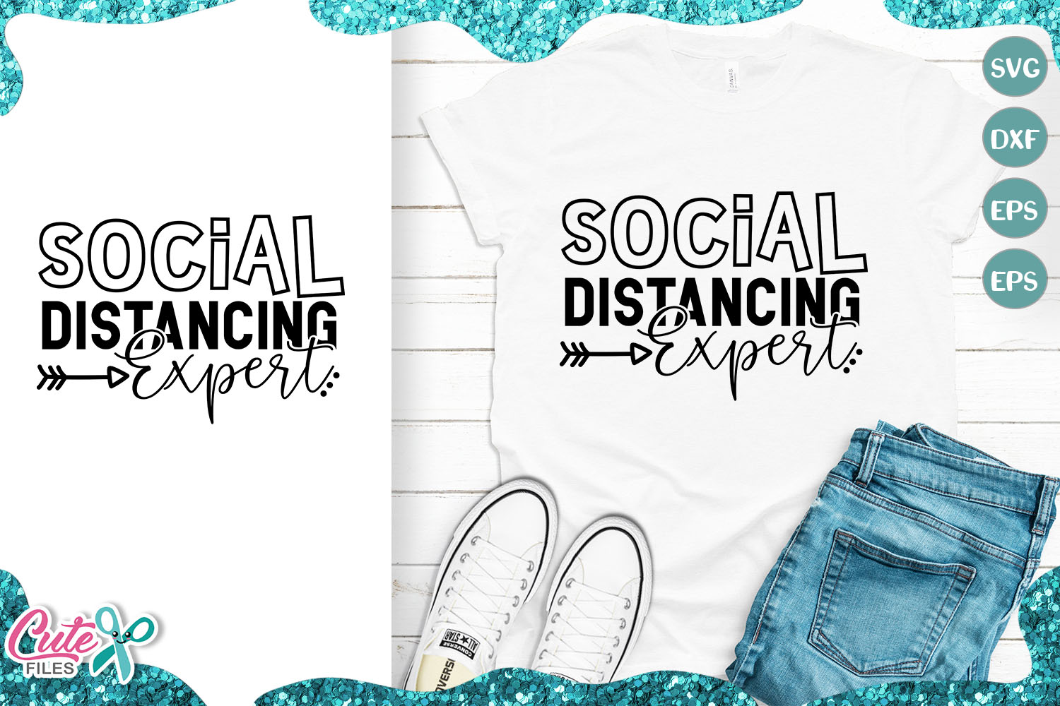 Download Free Social Distancing Expert Graphic By Cute Files Creative Fabrica for Cricut Explore, Silhouette and other cutting machines.