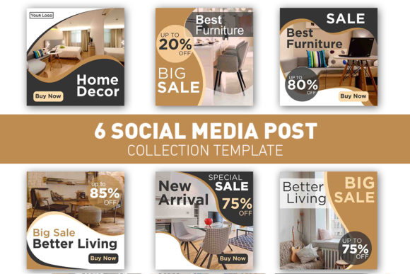 Social Media Post Home and Furniture Graphic Web Templates By ant project template