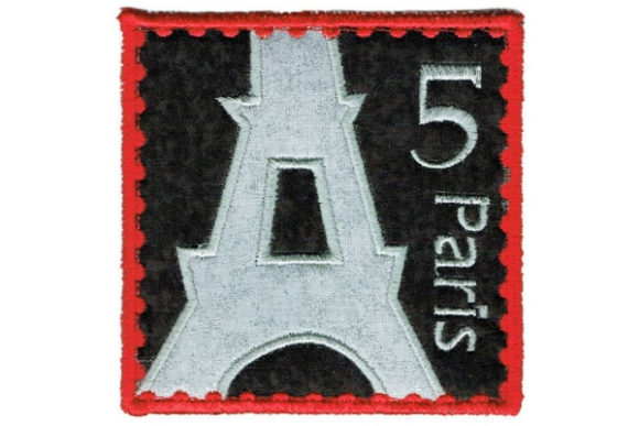 Stamp Square Coaster Europe Embroidery Design By Sookie Sews