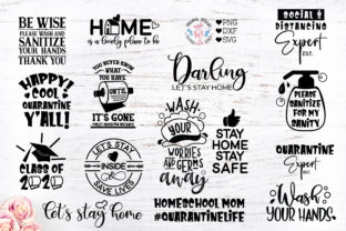 Download Free Stay Home Stay Safe Bundle Graphic By Graphichousedesign for Cricut Explore, Silhouette and other cutting machines.