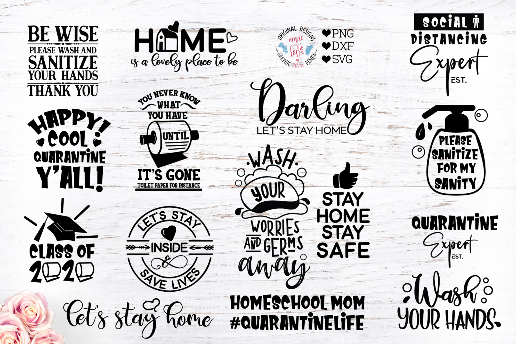 Stay Home Stay Safe Bundle Graphic By Graphichousedesign